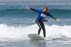 Check it out! She's working these waves! Must be the teachers!! ;) #SurfsUp #SanDiego