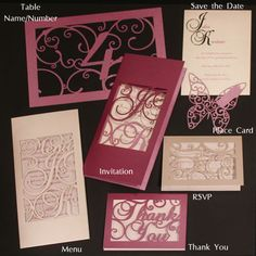 Intricate Creations - Bespoke Laser Cut Wedding Invitations - The Intricate Collections