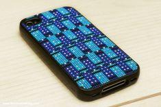 Tessellating TARDIS iPhone Case Cross-Stitch Pattern | The Zen of Making