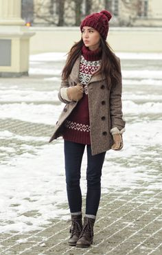 Winter Knit Layers.