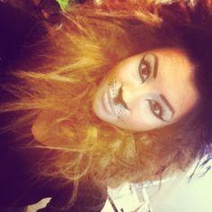 Lion makeup for a fashion show