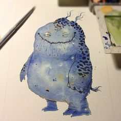 Friday night watercolor doodlin'.... by cryniak, via Flickr