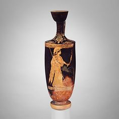 Terracotta lekythos (oil flask)  Attributed to the Brygos Painter
