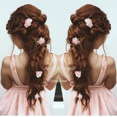 Ulyana Aster Romantic Long Bridal Wedding Hairstyles_20 ❤ See more: http://www.deerpearlflowers.com/romantic-bridal-wedding-hairstyles/