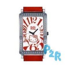 Relógio Vermelho Colecção Hello Kitty Diamond