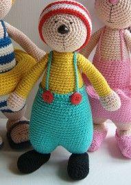 crochet pattern doll Dolfje