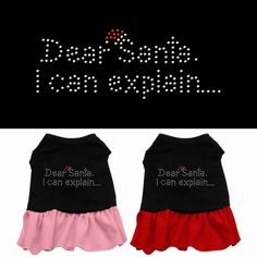 This dress is for your naughty little girl at Christmas.   A poly/cotton sleeveless shirt with a cute ruffle sewn onto the bottom to give this dress the perfect feminine flair! Double stitched in all the right places for comfort and durability! fldfurryfriends.com Price $14.48
