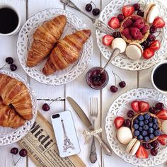 #Croissants #Berries #Delicious