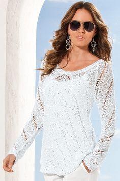 Boston Proper Sequin tape yarn sweater  bostonproper Holiday Tops 68d6a992c