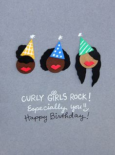 Compliment a girl with curly hair on her #birthday with this quirky #happybirthday #ecard.