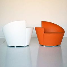 First Class 090.01 In White And Orange | Sandler Seating. Fully Upholstered Lounge  Chair With