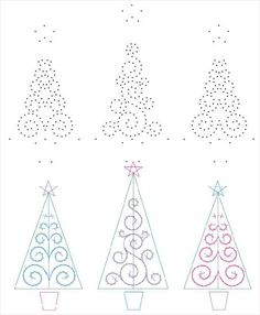 Paper Embroidery, Embroidery Patterns, Stitch Patterns, Stitching On Paper, Pine Cone Decorations, String Art Patterns, Homemade Christmas Cards, Pin Art, Christmas Embroidery