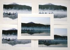 A set of 10 blank photo cards perfect for the holiday season!  Title: Silent Sails Taken on a quiet morning while the mist hovered over the lake.  This listing is for a set of 10 blank photography cards with envelopes. Cards come in a gold greeting card box with a clear top (pictured above). Gift wrap available as requested.  PRINTING DETAILS:  This archival photograph is printed on high quality photo paper. Cards and envelopes are made of high quality recycled paper in the USA and printed…