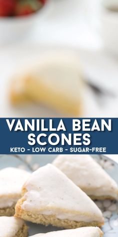 Keto Vanilla Bean Scones Better than Starbucks baby and none of the guilt! These Mini Keto Vanilla Bean Scones are delicious and easy to make. Low Carb Sweets, Low Carb Desserts, Low Carb Recipes, Diet Recipes, Slimfast Recipes, Bread Recipes, Yam Recipes, Tilapia Recipes, Baking Recipes
