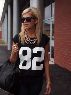 2013 Tee: c/o Forever 21 | Bag: Alexander Wang   Necklace: See Jewelry| Watch: Micheal Kors | Bracelet: Stella & Dot |