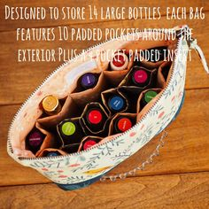 Essential Oil Bag Pattern ~ Padded Storage for up to 14 Bottles ~ PDF File ~ Sew…