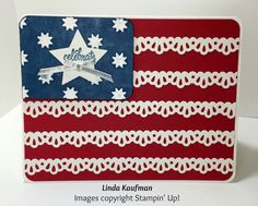 Stampin' Up! has just the product to create that perfect card, or cards to help you celebrate the Fourth of July.  Here I've used something ...