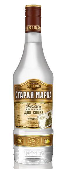 Старая марка. Для своих. - водка (1) Rum Bottle, Liquor Bottles, Whiskey Bottle, Russian Vodka, Tequila, Beverage Packaging, In Vino Veritas, Whisky, Packaging Design