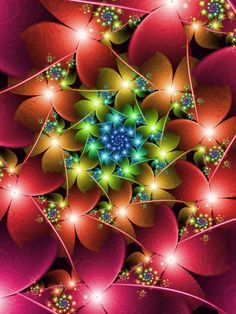 Autumn flowers by pinkal09.deviantart. fractal flower