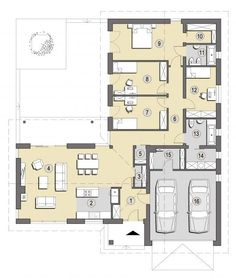 l shaped house plans - Architecture ~ house plans one story Simple House Plans, New House Plans, Dream House Plans, Modern House Plans, House Floor Plans, House Layout Plans, House Layouts, The Plan, How To Plan