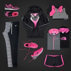 Workout outfits in Pink