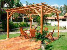 Pérgolas de madera en el jardín - Instalación y Tipos