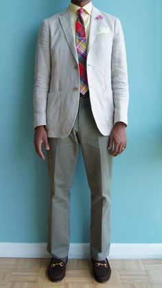 WIWT: 6.8.12  Seersucker, Madras, and Gingham  After a fairly trying day of school, a student gave me a flower for my lapel.  It's always the little things that can turn your day around.  Thank you.