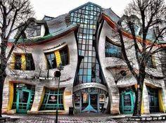 Krzwy Domek Building in Poland