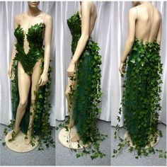 Poison Ivy With Ivy Train Costume, Halloween Costume, Monokini, Fairy Costume, Cosplay, Comicon, Batman Dress Gown | Pinterest