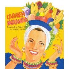 Carmen miranda paper doll by Marilyn Henry, Mint, Uncut 1998 Samba, Carmen Miranda Costume, Salsa Party, Fruit Logo, Banana Art, Paper Dolls Book, Anne Taintor, Dress Up Dolls, Vintage Children