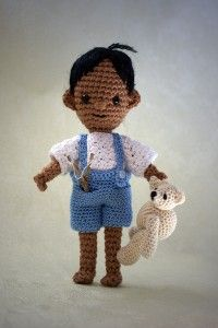 Crochet boy doll, lots of other dolls too based on by hook by hand