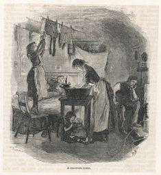 One Room Slum, 1891. Chronicle / Alamy Stock Photo