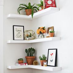 Learn how to build floating corner shelves for your home!