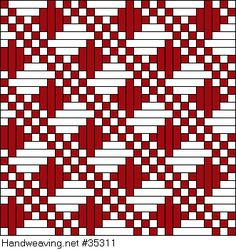 draft image: Figure 0420, Atlas de 4000 Armures, Louis Serrure, 10S, 10T Weaving Designs, Weaving Patterns, Mosaic Patterns, Knitting Patterns, Willow Weaving, Hand Weaving, Weaving Looms, Fair Isle Chart, Weaving Techniques