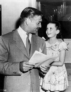 Clark Gable with child wonder Margaret O'Brien.