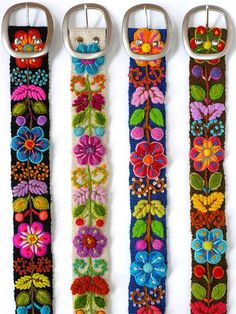 Details about Peruvian Wool Belt with Flower Pattern - Embroidered White Belt - Women& Belt . - Details about Peruvian Wool Belt with Flower Pattern – Embroidered White Belt – Women& Be - Beaded Embroidery, Embroidery Stitches, Embroidery Patterns, Hand Embroidery, Mexican Embroidery, Stitching Patterns, Hungarian Embroidery, Vintage Embroidery, Bordado Floral