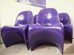 4 Panton Chairs, Vintage, Retro, 70er von Eight Arms auf DaWanda.com