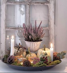 Autumn decoration inspirations for your home – Naturdeko - Dekoration Halloween Decorations, Christmas Decorations, Table Decorations, Autumn Decorations, Decoration Inspiration, Deco Floral, Pallets Garden, Pallet Crafts, Victorian Decor