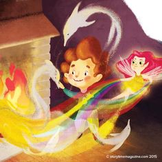 Isabella Grott (https://www.behance.net/isabellagrott) brought our Fire Fairy to life in Storytime 14! ~ STORYTIMEMAGAZINE.COM