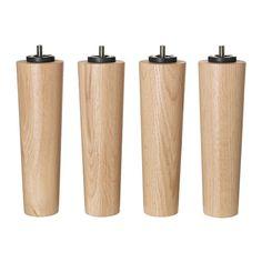 IKEA - BRYNILEN, Bein, 20 cm, , Aus Massivholz, einem strapazierfähigen, lebendigen Naturmaterial.