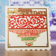 Tonic Simply Screens Collection Die Collection - Starry Starry Night, Oh Christmas Tree, The Holly and the Ivy Handmade Christmas, Christmas Crafts, Christmas Tree, Cardmaking And Papercraft, Christmas Scrapbook, Screens, Craft Supplies, Paper Crafts, Ivy