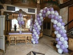 Entrance arch for Lavender and zebra sweet 16 by Total-Party.com