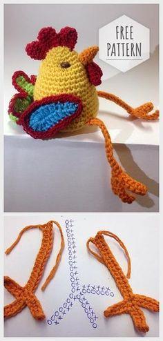 Mesmerizing Crochet an Amigurumi Rabbit Ideas. Lovely Crochet an Amigurumi Rabbit Ideas. Crochet Easter, Cute Crochet, Crochet Dolls, Knit Crochet, Amigurumi Patterns, Amigurumi Doll, Crochet Patterns, Chicken Pattern, Rabbit Crafts