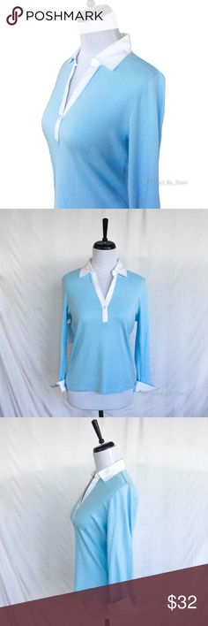 NWT✨  W2 Polo Shirt Cute polo-style, long-sleeve top with a one-button placket and cool flared/oversized cuffs.  • Size: L • 100% cotton • Condition: perfect! Never worn. W2 Tops Blouses