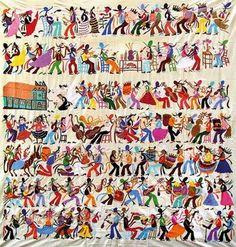 Bordado conocido con el nombre de tenangos, surgieron como alternativa económica en las poblaciones de San Nicolás y San Pablo el Grande, convirtiéndose en el arte textil que identifica a las comunidades pertenecientes al municipio de Tenango de Doria, Hidalgo