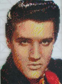 Elvis Presley made out of Perler Beads #perlerbeads #perler #elvispresley