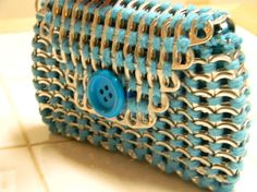 Handmade clutch poptab wallet made by ME!