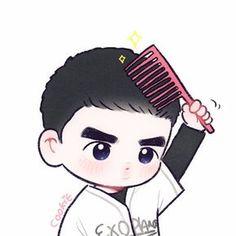 쿠키 (@yooocookie) | Twitter Kaisoo, Kyungsoo, Chanyeol, Exo Chen, Exo Cartoon, Chibi, Exo Anime, Exo Fan Art, Different Art Styles