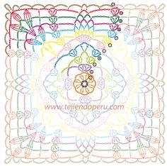 Cómo tejer un cuadrado con hojas a crochet (granny square)