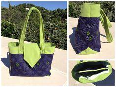 Le sac Madison de VérOlive cousu dans un longhi en coton du Kerala (Inde du Sud) - Patron de couture Sacôtin